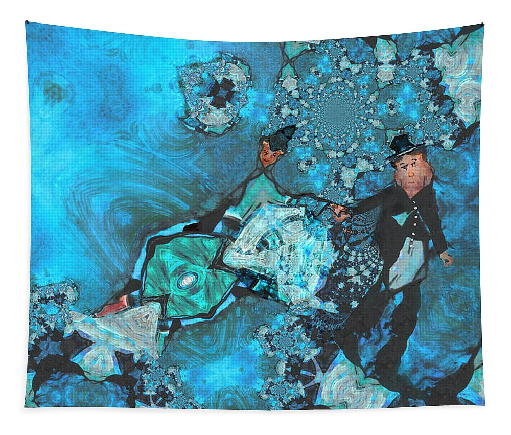 Fractal Tapestry featuring the painting Dont Go by Miki De Goodaboom