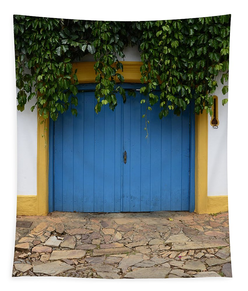 Doors And Windows Minas Gerais State Brazil Tapestry featuring the photograph Doors And Windows Minas Gerais State Brazil 11 by Bob Christopher