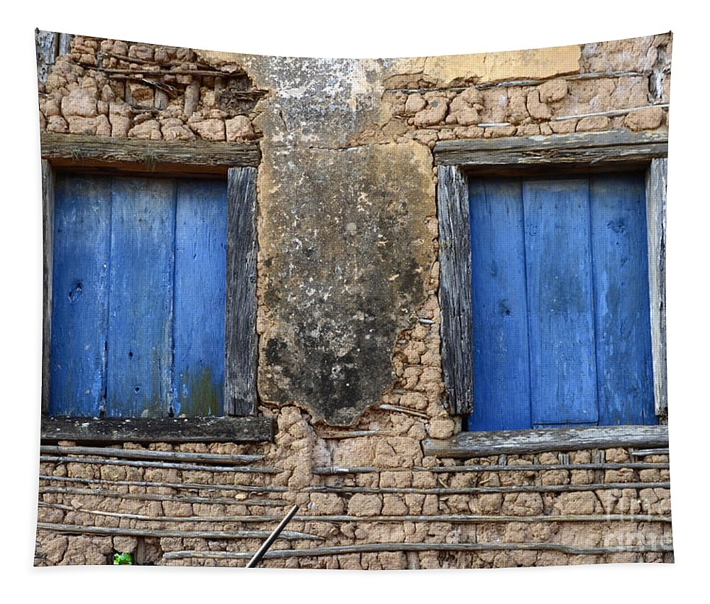 Doors And Windows Minas Gerais State Brazil Tapestry featuring the photograph Doors And Windows Minas Gerais State Brazil 1 by Bob Christopher