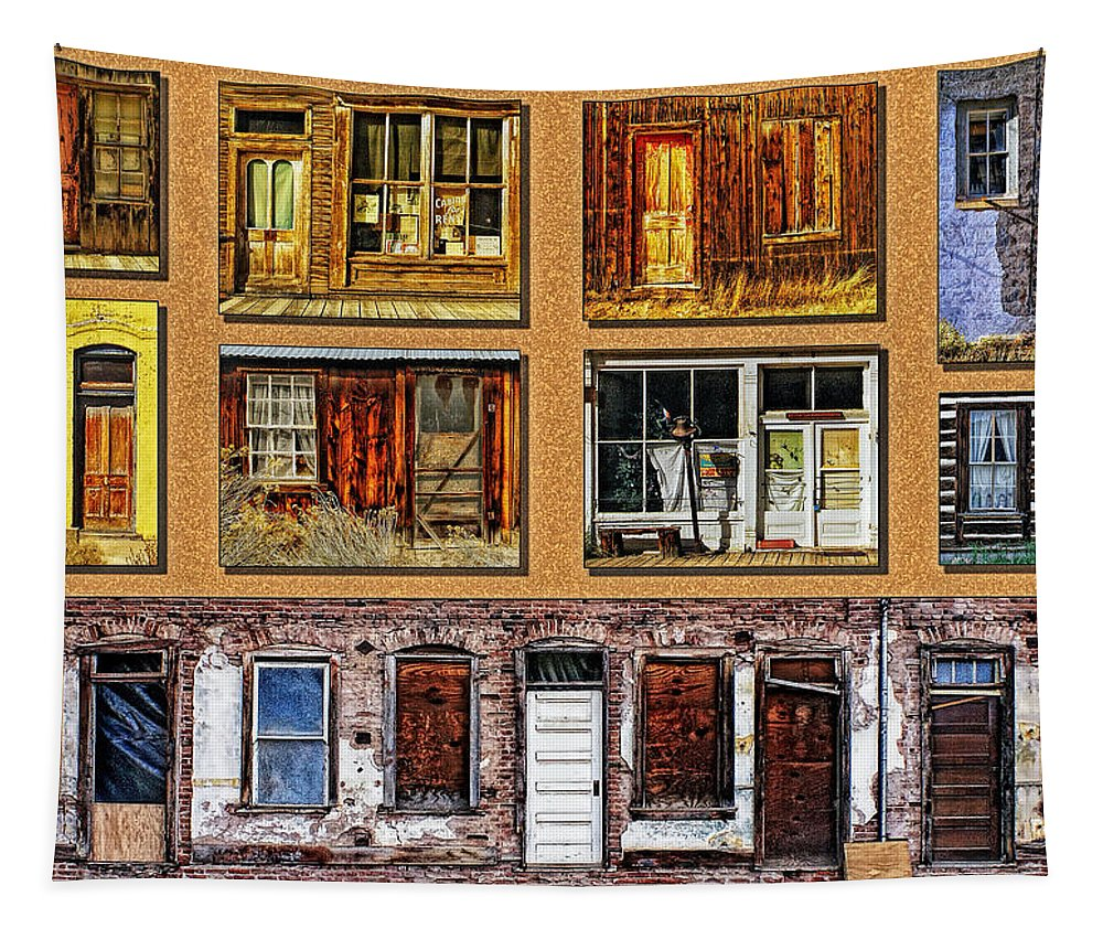 Doors Tapestry featuring the photograph Doors And Windows by Priscilla Burgers