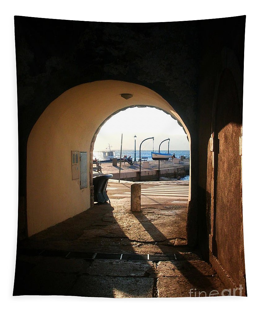 Doorway Tapestry featuring the photograph Doorway To The Sea by Nina Ficur Feenan