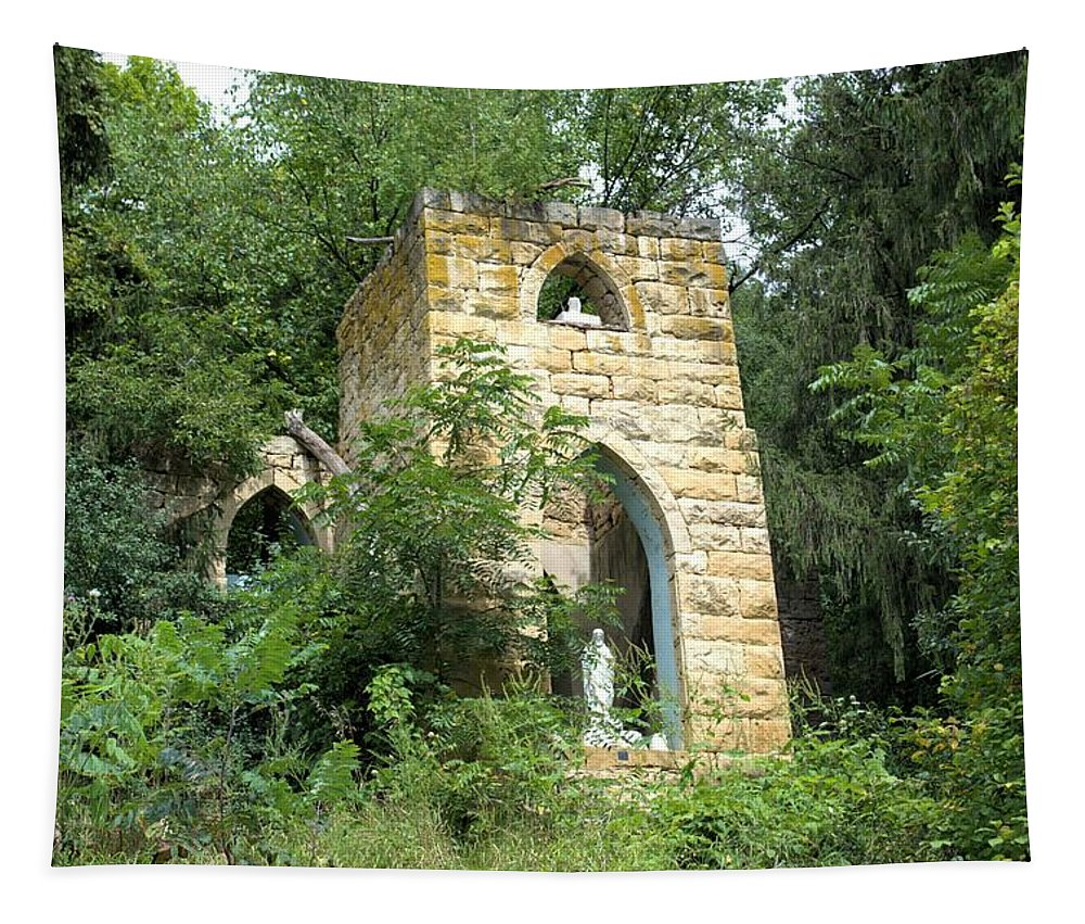 Grotto Tapestry featuring the photograph Dorchester Grotto by Bonfire Photography