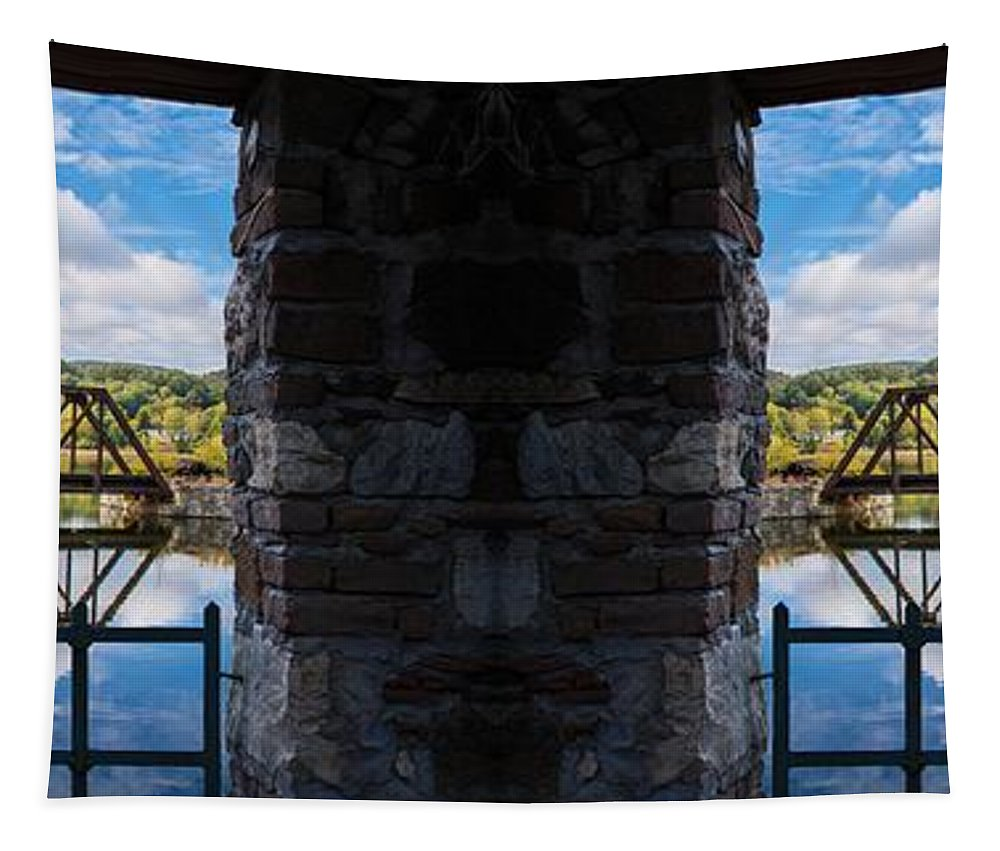 Bridge Tapestry featuring the photograph Double Vision by Sherman Perry