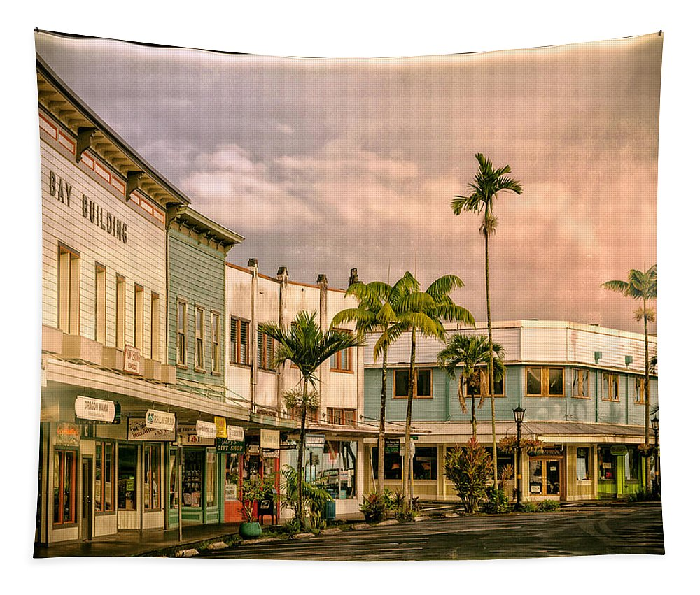 Hawaii Tapestry featuring the photograph Downtown Hilo Sunday Morning by Dominic Piperata