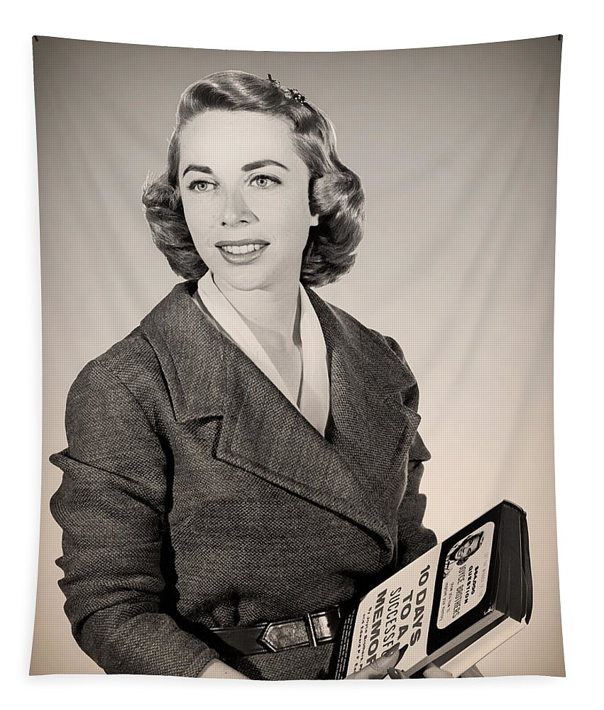 1959 Tapestry featuring the photograph Dr Joyce Brothers 1959 by Mountain Dreams