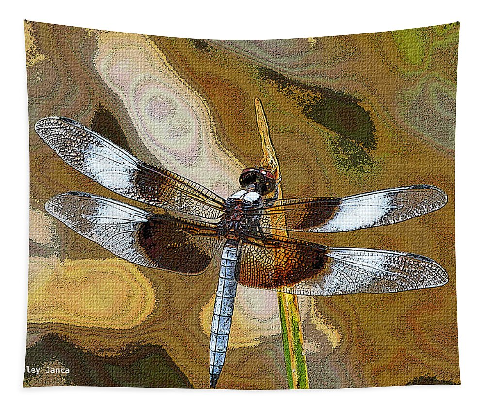 Dragon Fly Tapestry featuring the photograph Dragon Fly by Tom Janca