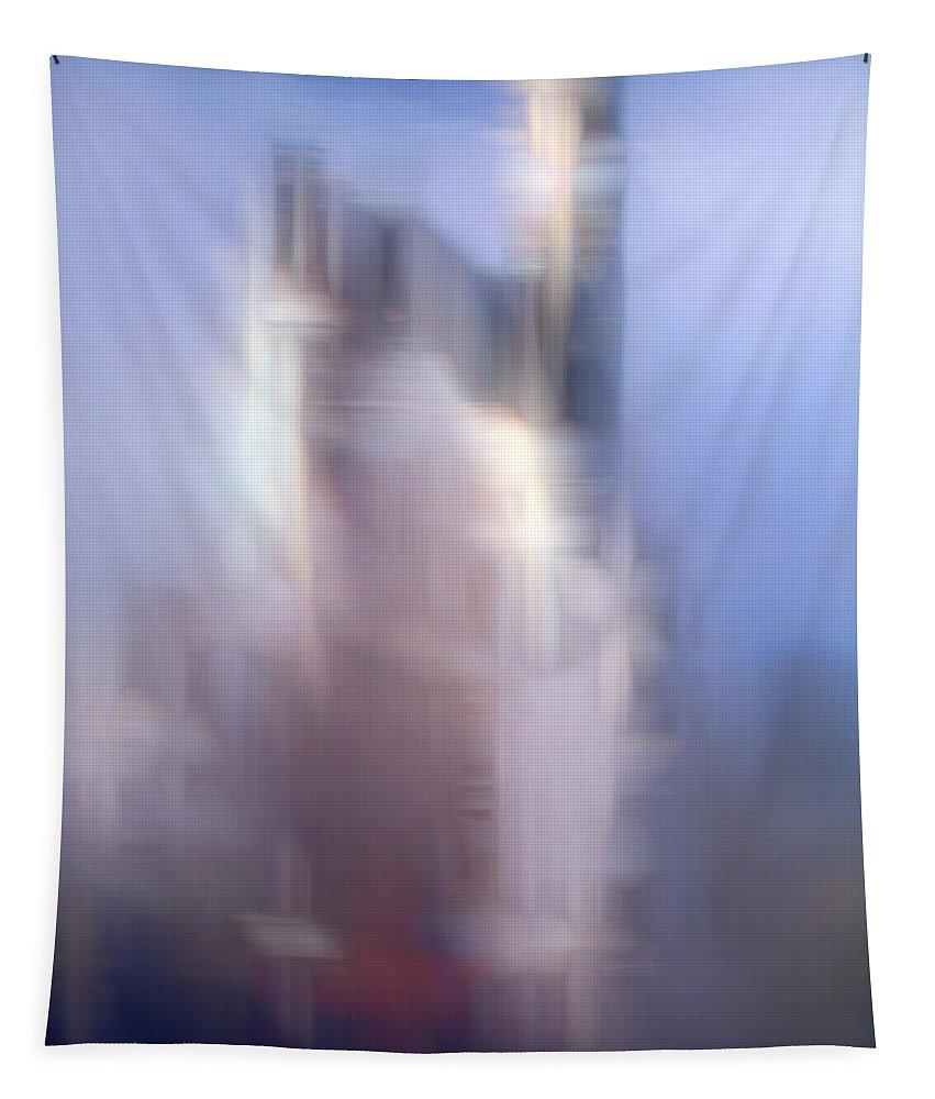 John Emmett Tapestry featuring the painting Dream Castle II by John WR Emmett