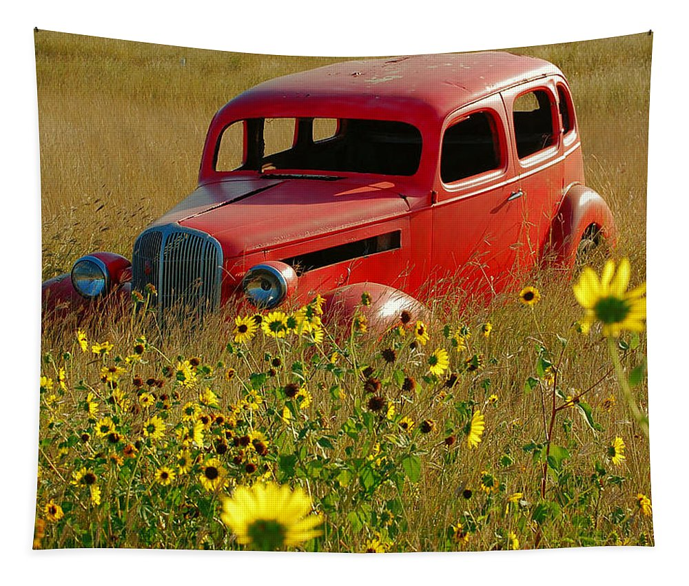 Car Tapestry featuring the photograph Dream Left Behind by Leticia Latocki