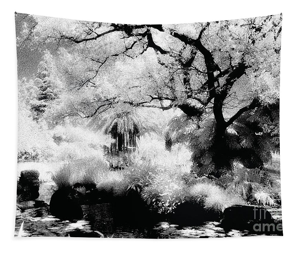 Infrared Tapestry featuring the photograph Dreamy Gardens - 1007 by Paul W Faust - Impressions of Light