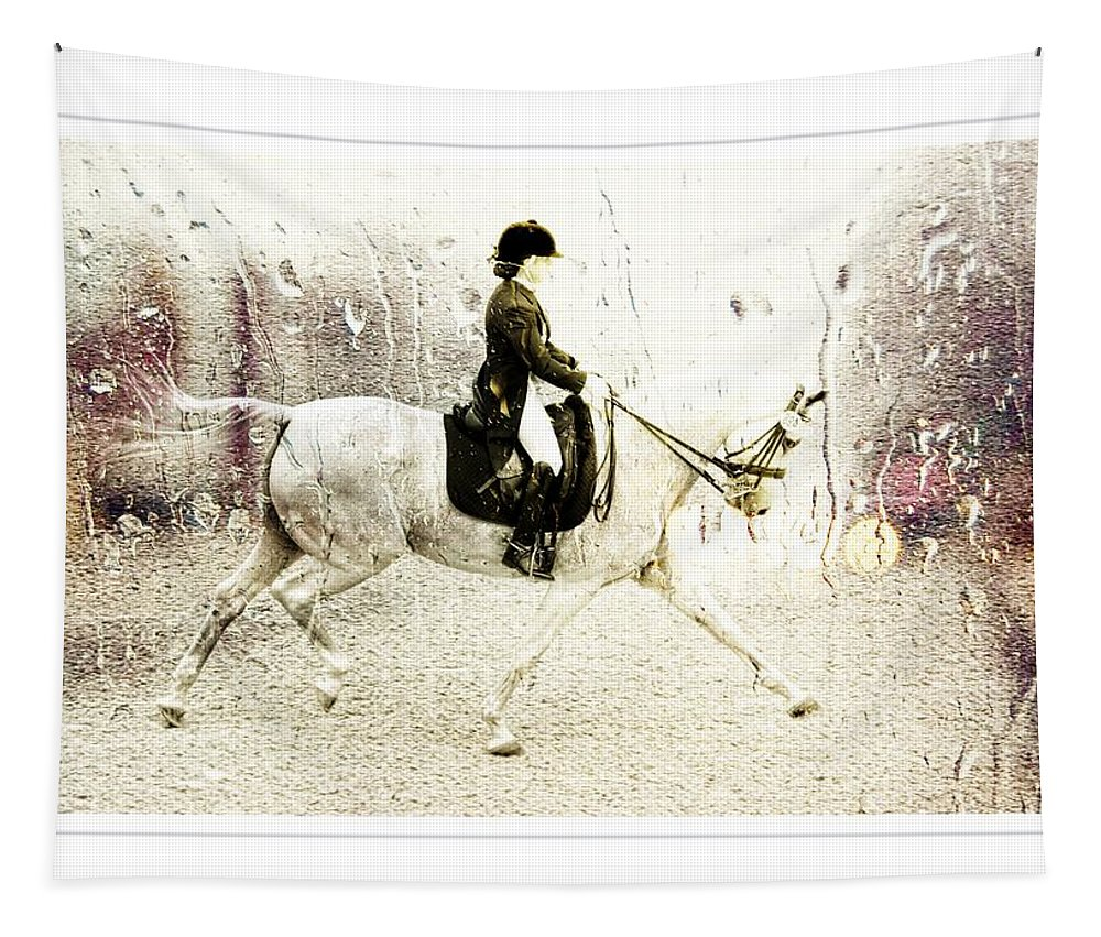 Dressage Tapestry featuring the photograph Dressage Droplets by Alice Gipson