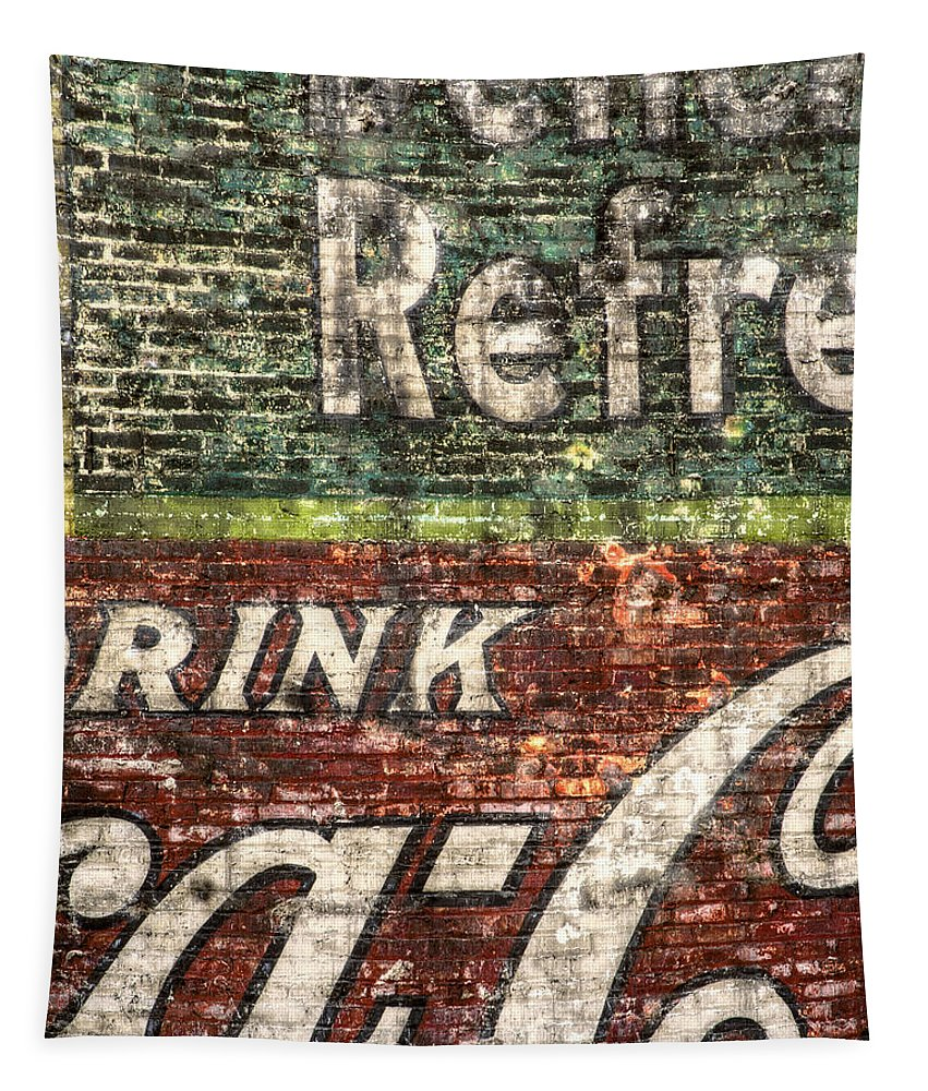 Building Tapestry featuring the photograph Drink Coca-cola 1 by Scott Norris