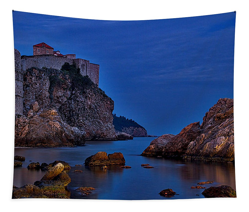 Dubrovnik Tapestry featuring the photograph Dubrovnik Bay by Stuart Litoff