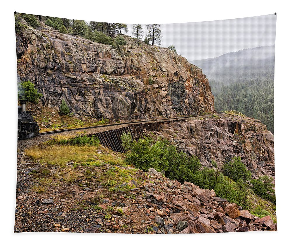 Durango Tapestry featuring the photograph Durango Train To Silverton Dsc07599 by Greg Kluempers