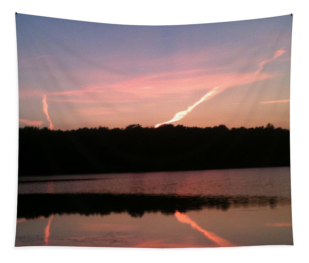 Dusk Tapestry featuring the photograph Dusk in the Poconos by Sheila Mashaw