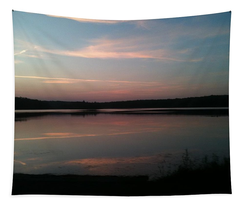 Dusk Tapestry featuring the photograph Dusk by Sheila Mashaw