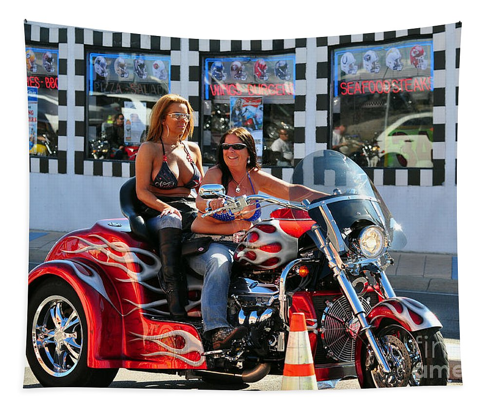 Dykes Tapestry featuring the photograph Dykes On Trikes by Davids Digits