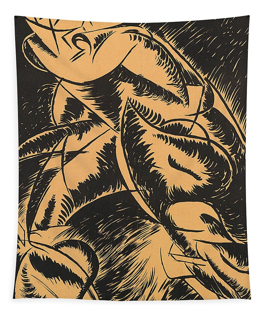 Boccioni Tapestry featuring the painting Dynamism Of A Human Body by Umberto Boccioni