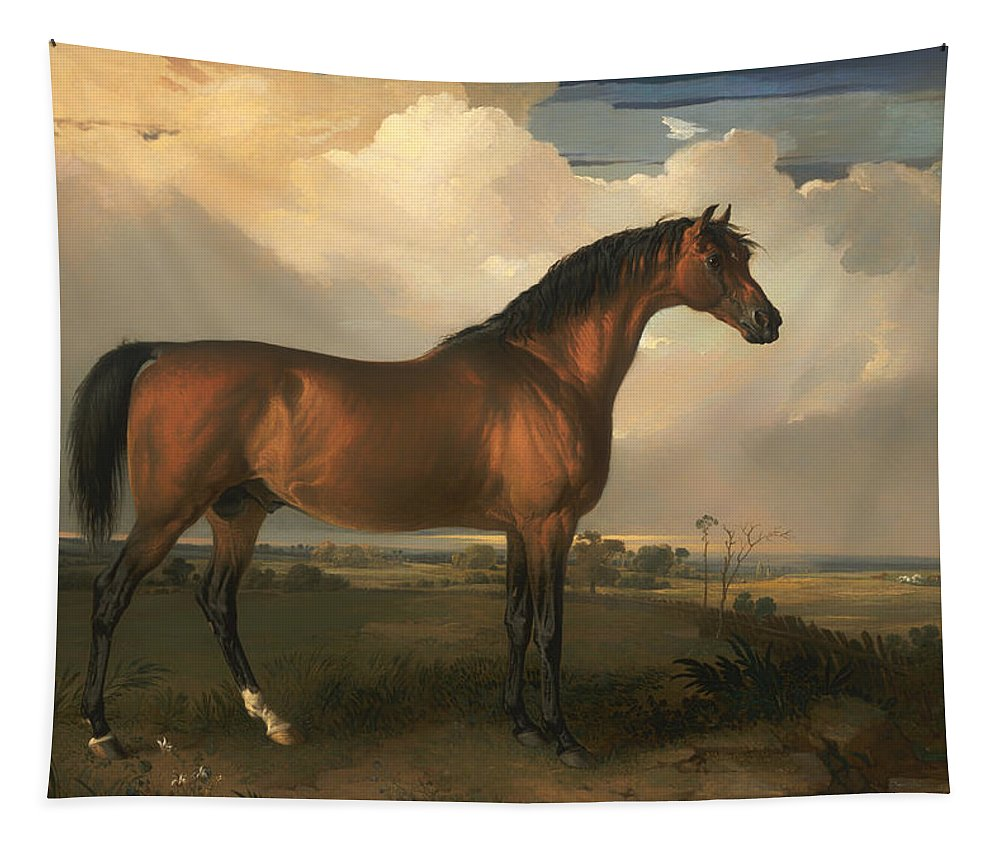 Painting Tapestry featuring the painting Eagle - A Celebrated Stallion by Mountain Dreams