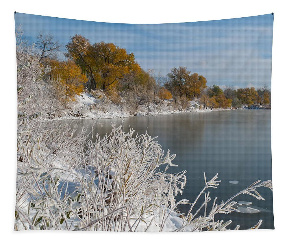 Landscape Tapestry featuring the photograph Early Winter Landscape by Cascade Colors