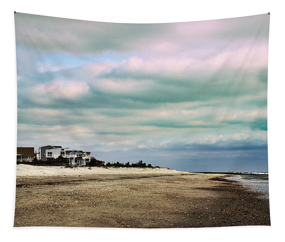 Nature Tapestry featuring the photograph Early Morning Townsends Inlet Cape May by Tom Gari Gallery-Three-Photography