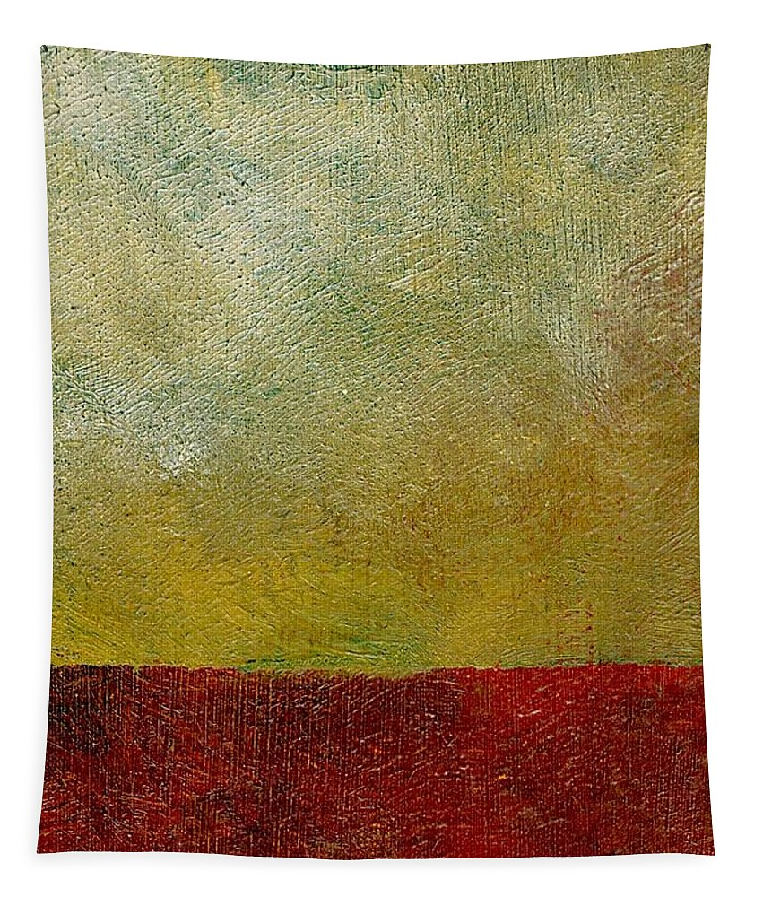Abstract Landscape Tapestry featuring the painting Earth Study One by Michelle Calkins