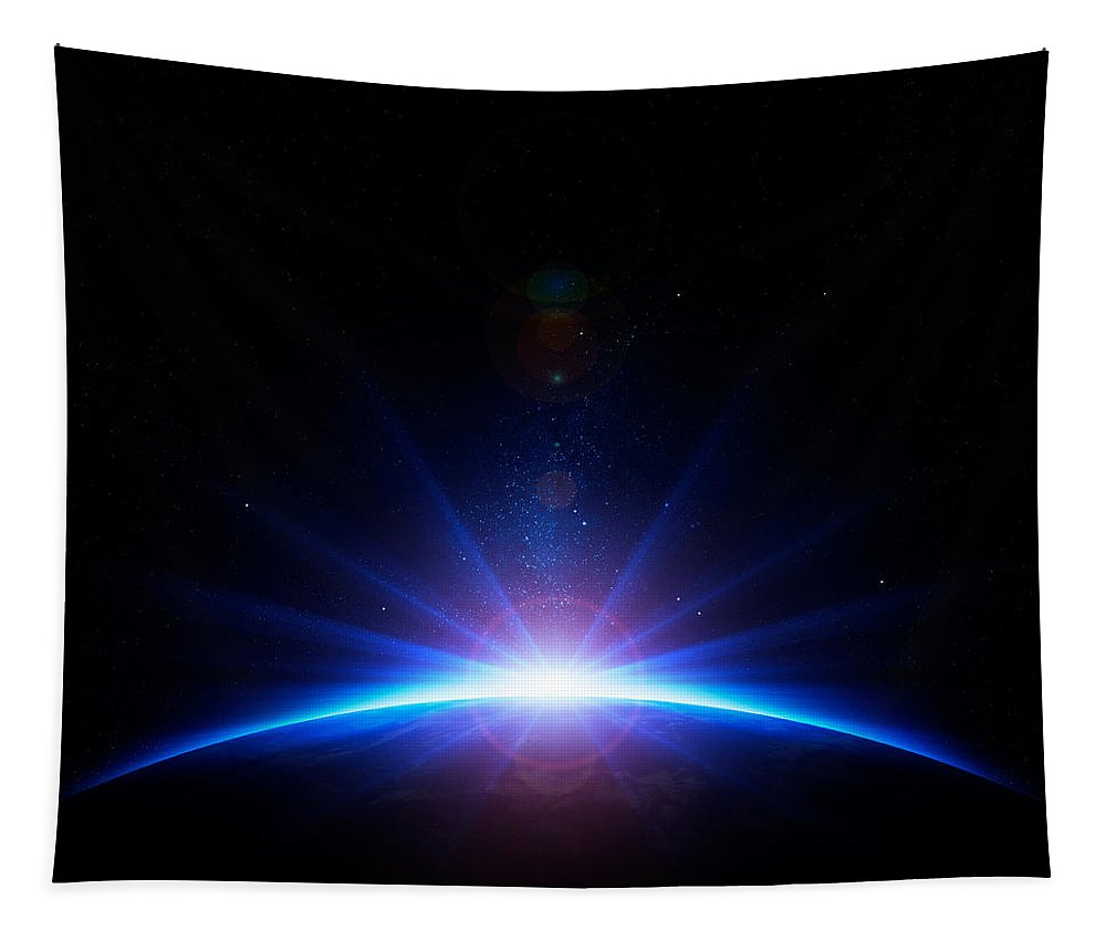 Earth Tapestry featuring the photograph Earth Sunrise by Johan Swanepoel