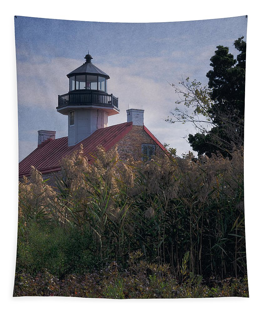 Joan Carroll Tapestry featuring the photograph East Point Lighthouse by Joan Carroll