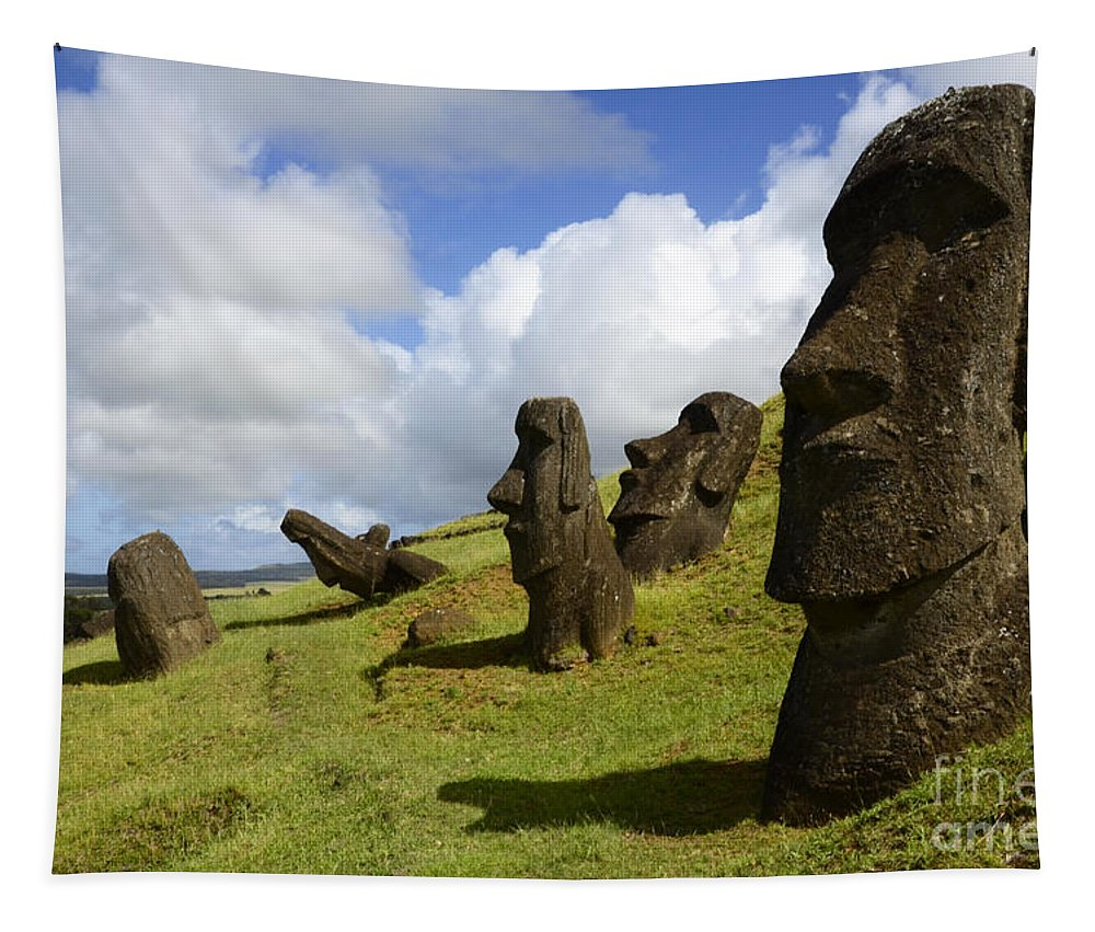 Maoi Tapestry featuring the photograph Easter Island 1 by Bob Christopher