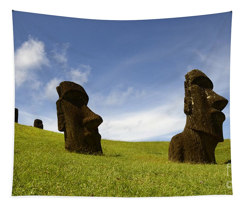 Easter Island Tapestry featuring the photograph Easter Island 10 by Bob Christopher