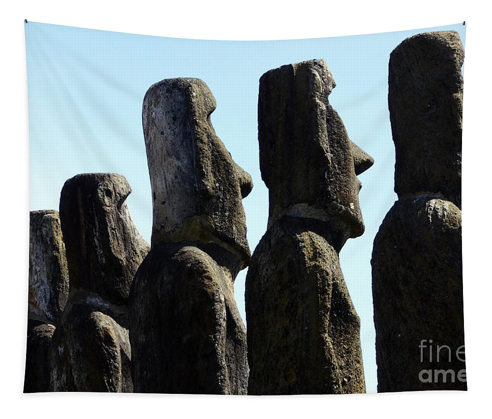 Easter Island Tapestry featuring the photograph Easter Island 11 by Bob Christopher