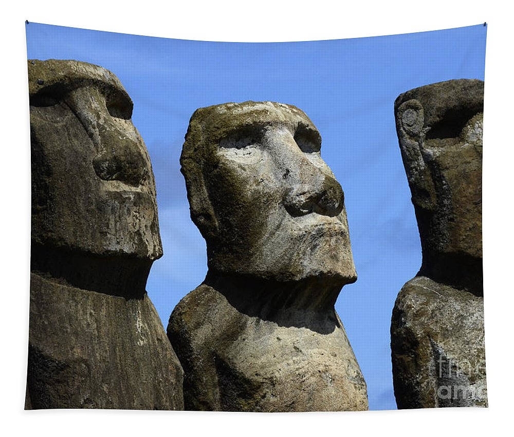 Easter Island Tapestry featuring the photograph Easter Island 16 by Bob Christopher