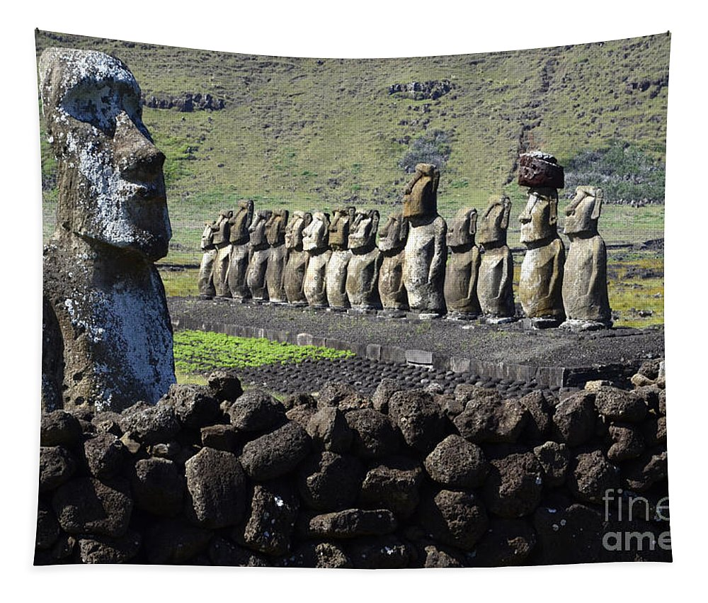 Easter Island Tapestry featuring the photograph Easter Island 4 by Bob Christopher