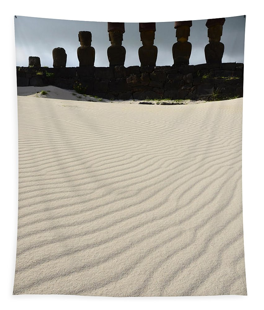 Easter Island Tapestry featuring the photograph Easter Island 8 by Bob Christopher