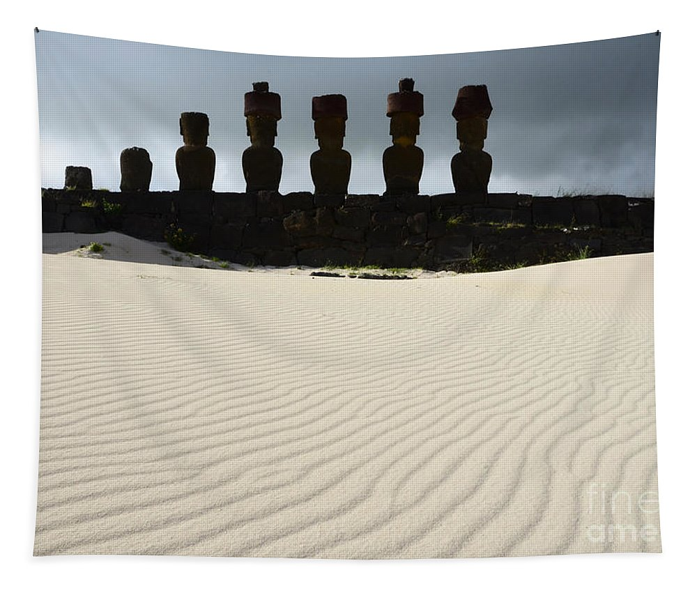 Easter Island Tapestry featuring the photograph Easter Island 9 by Bob Christopher