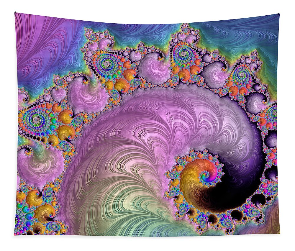 Fractal Tapestry featuring the digital art Easter Parade by HH Photography of Florida