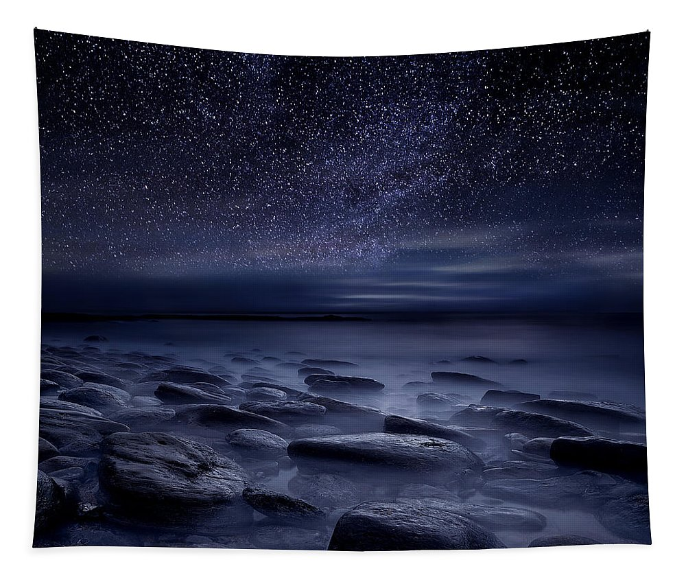 Night Tapestry featuring the photograph Echoes of the unknown by Jorge Maia