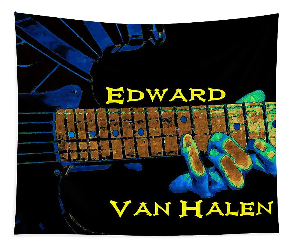 Van Halen Tapestry featuring the photograph Magic Fingers by Ben Upham