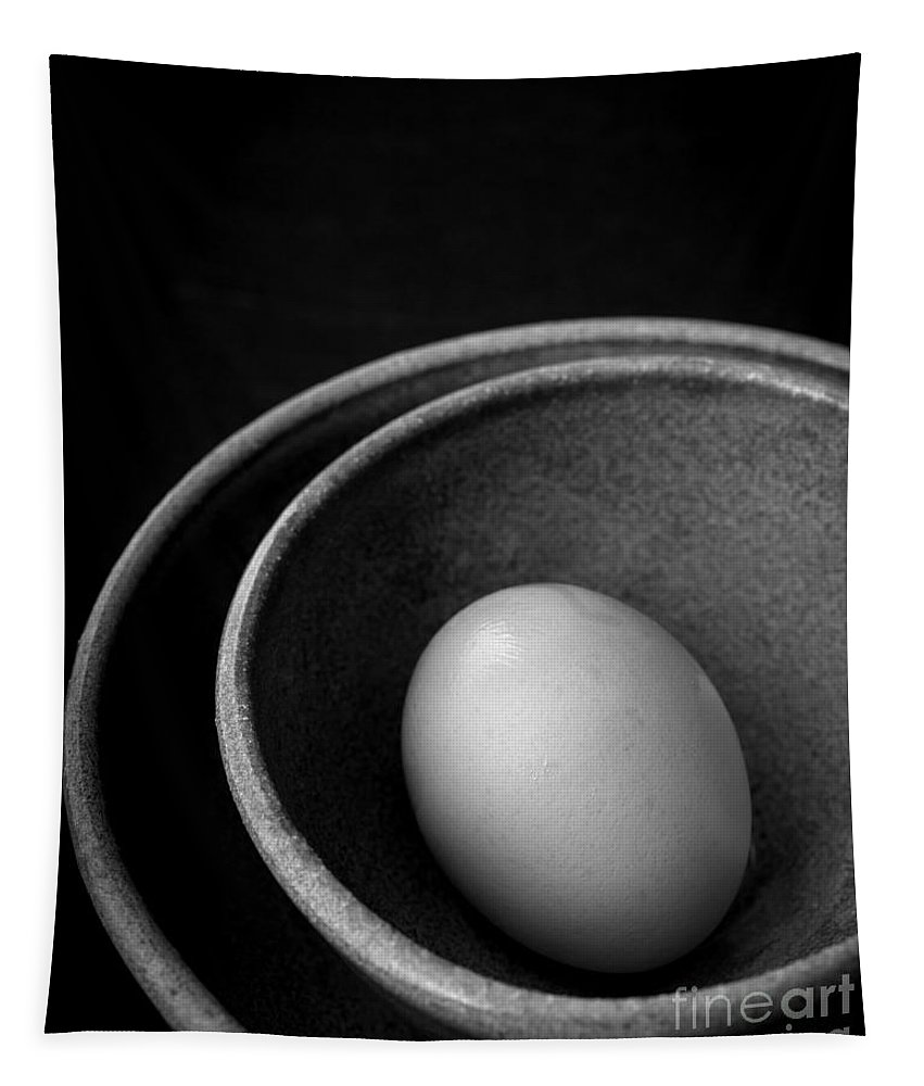 Food Tapestry featuring the photograph Egg Open Edition by Edward Fielding