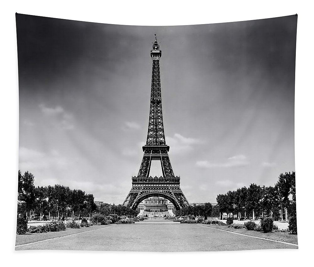 Eiffel Tower Tapestry featuring the photograph Eiffel Tower And Park 1909 by Mountain Dreams