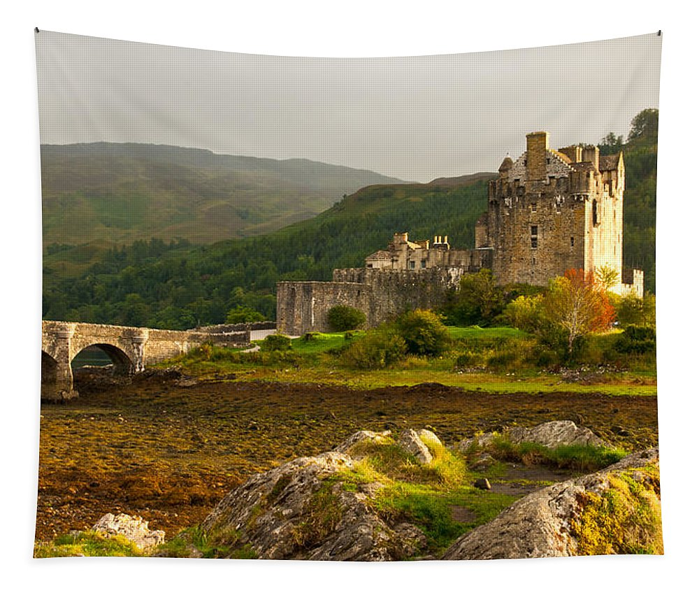 Eilean Donan Castle Tapestry featuring the photograph Eilean Donan Castle Scotland by Michalakis Ppalis