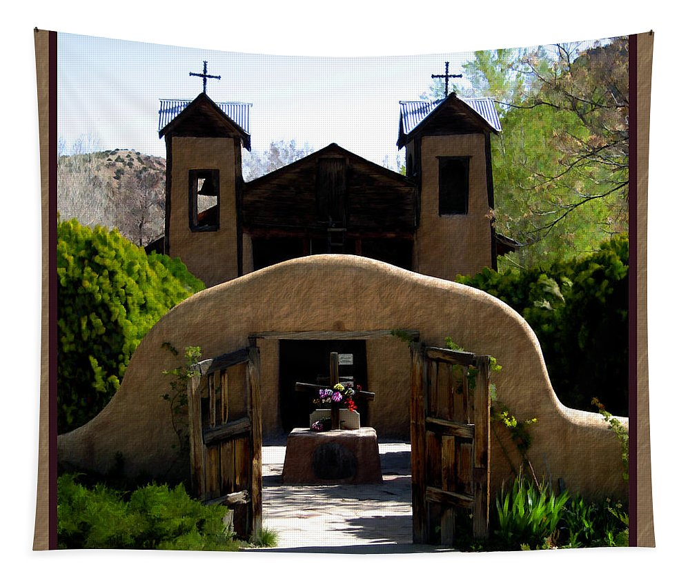 Santuario De Chimayo Tapestry featuring the photograph El Santuario De Chimayo by Kurt Van Wagner