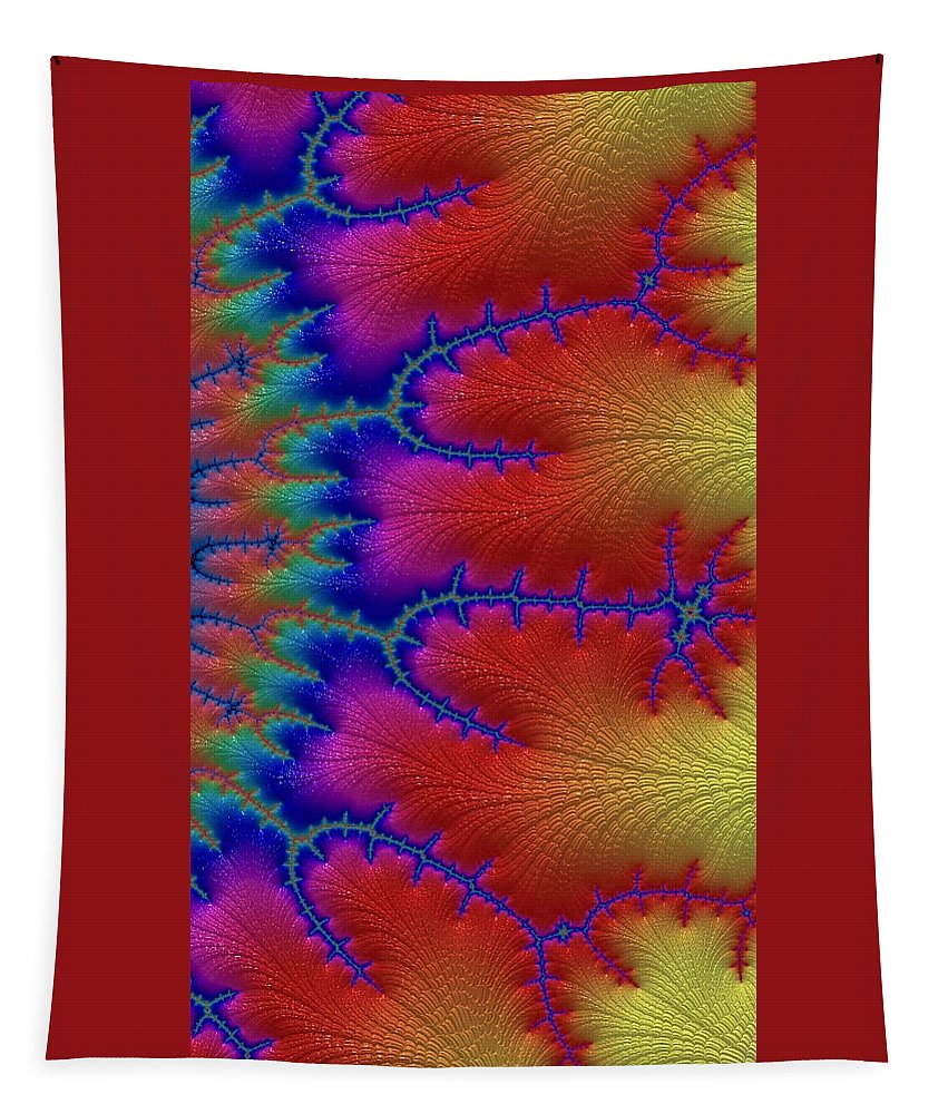 fractal Art abstract Photography abstract Art women's Fashion girl's Fashion Cards phone Cases Tapestry featuring the photograph Electric by Bill Owen