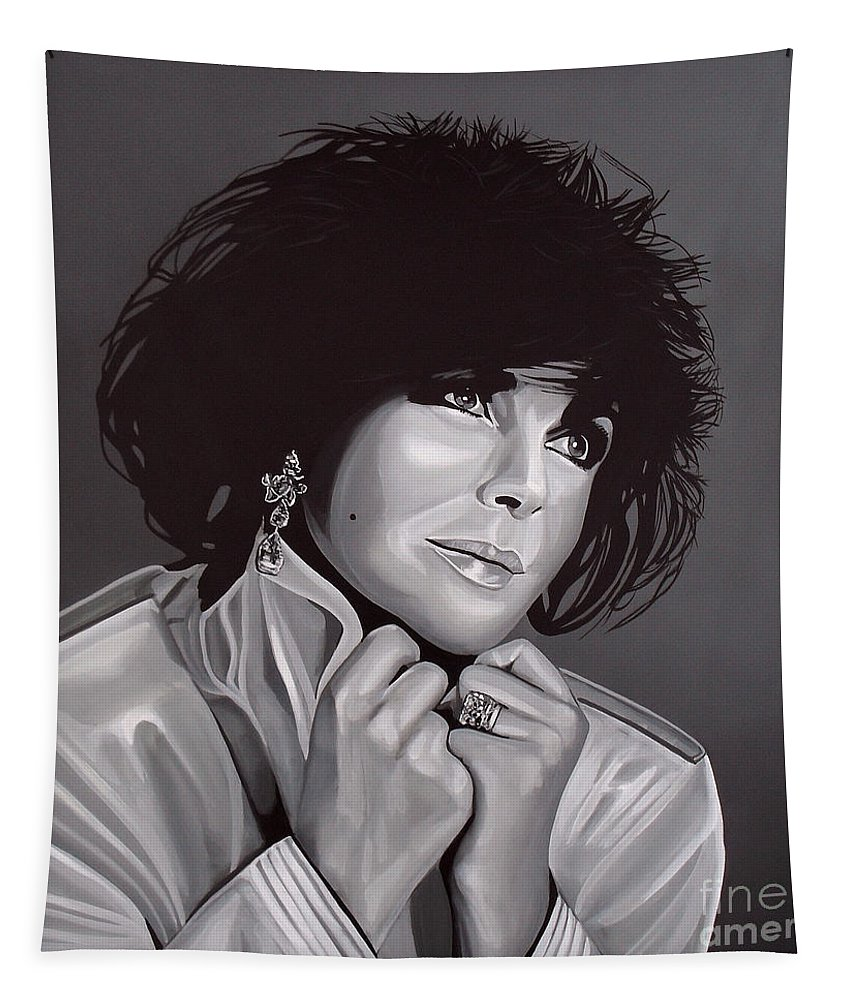 Elizabeth Taylor Tapestry featuring the painting Elizabeth Taylor by Paul Meijering