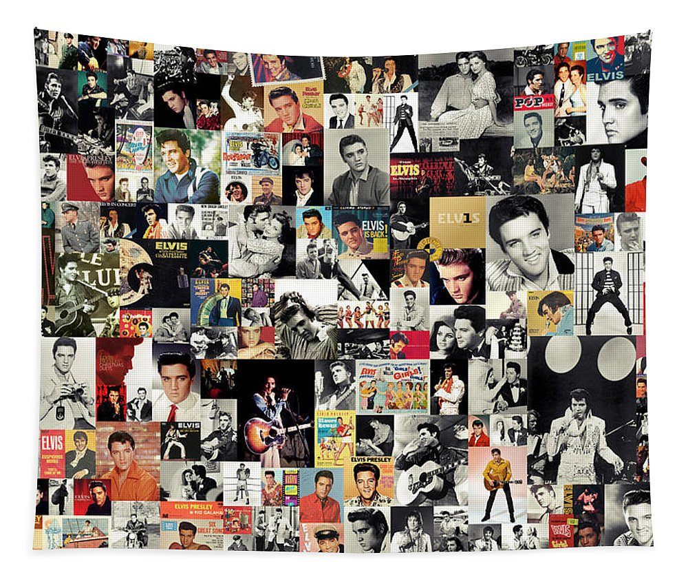 Elvis Presley Tapestry featuring the digital art Elvis The King by Zapista OU