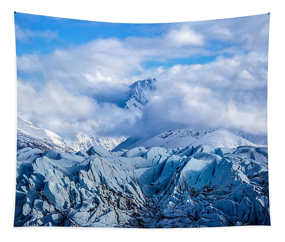 Embraced By Clouds Tapestry featuring the photograph Embraced By Clouds by Wes and Dotty Weber