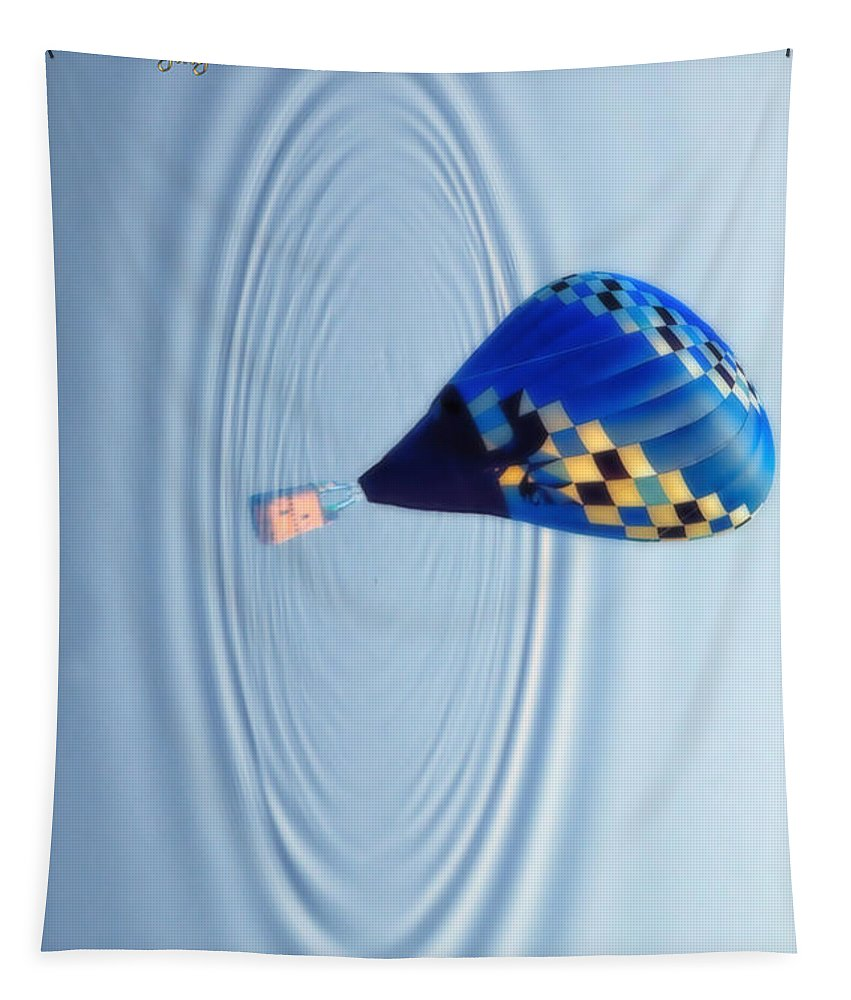 Balloon Tapestry featuring the photograph Emerging by Thomas Woolworth