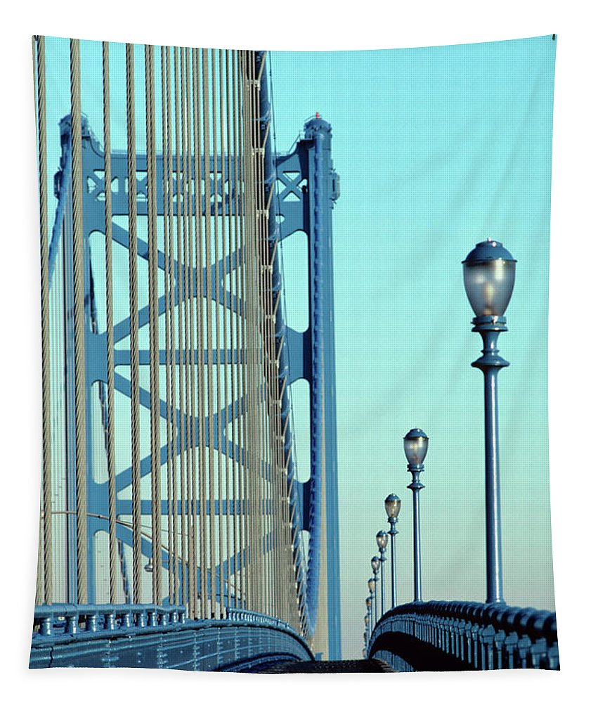 Photography Tapestry featuring the photograph Empty Walkway On Benjamin Franklin by Vintage Images