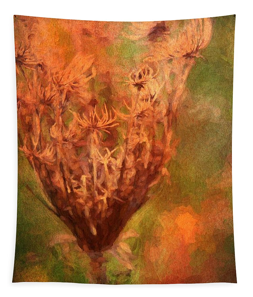 Dried Flowers Tapestry featuring the photograph End Of The Season by Alice Gipson