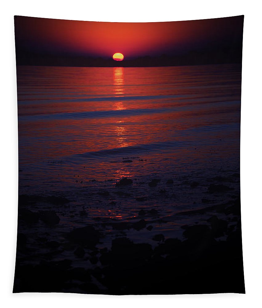 Sunset Tapestry featuring the photograph Ending Colors by Karol Livote
