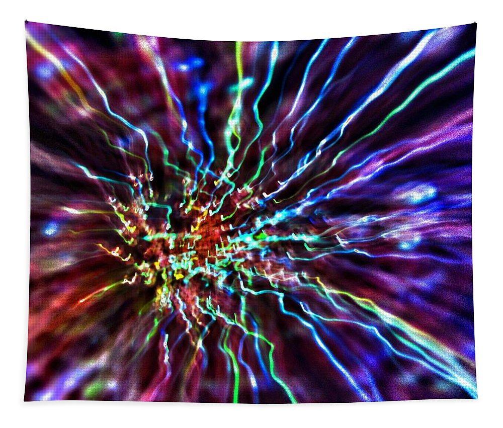 Energy Tapestry featuring the photograph Energy 2 - Abstract by Marianna Mills